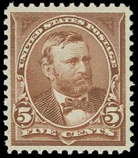 US Stamp Values Scott Cat. 255: 5c 1894 Grant. H.R. Harmer, Jun 2015, Sale 3007, Lot 3264