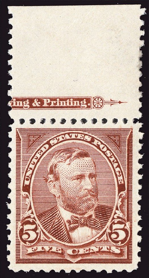 Value of US Stamps Scott Cat. # 255 - 5c 1894 Grant. Spink Shreves Galleries, Jan 2014, Sale 146, Lot 315