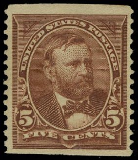Costs of US Stamps Scott Catalogue #255 - 5c 1894 Grant. H.R. Harmer, May 2014, Sale 3005, Lot 1192