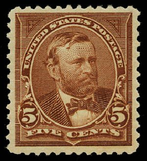Values of US Stamp Scott Catalog #255: 5c 1894 Grant. Daniel Kelleher Auctions, May 2015, Sale 669, Lot 2772