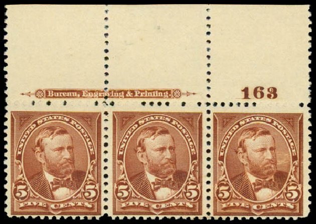 Price of US Stamp Scott Cat. #255 - 1894 5c Grant. Daniel Kelleher Auctions, May 2015, Sale 669, Lot 2773