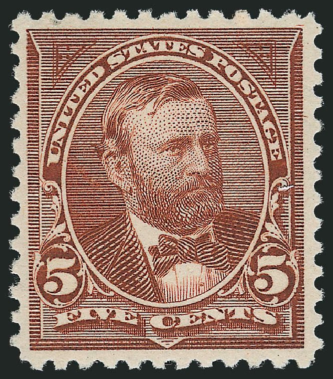Values of US Stamps Scott Cat. 255: 5c 1894 Grant. Robert Siegel Auction Galleries, Oct 2012, Sale 1033, Lot 4143