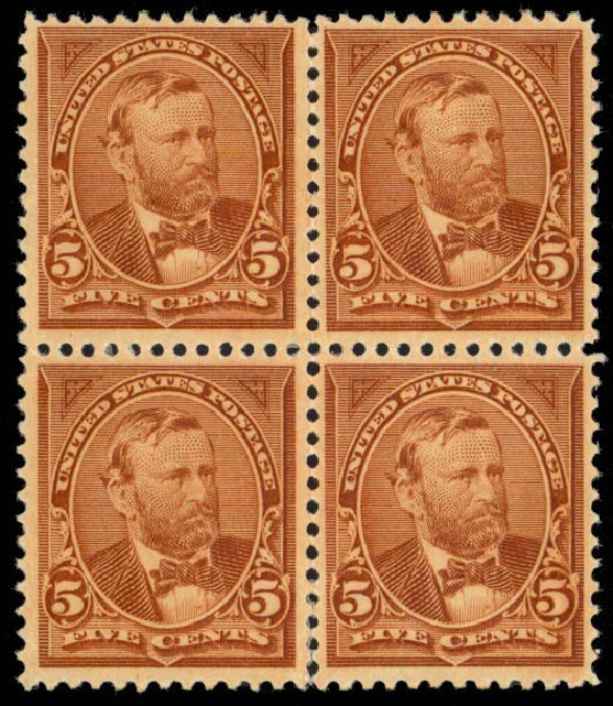 Price of US Stamps Scott Cat. 255: 5c 1894 Grant. Daniel Kelleher Auctions, Mar 2013, Sale 635, Lot 376