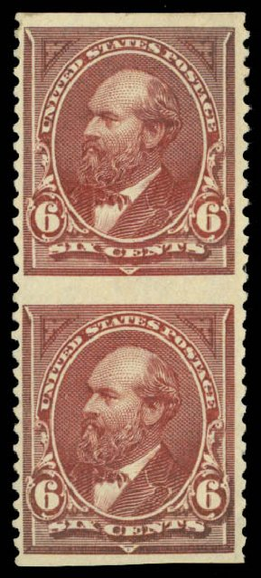 Cost of US Stamps Scott 256 - 1894 6c Garfield. Daniel Kelleher Auctions, Jan 2015, Sale 663, Lot 1517