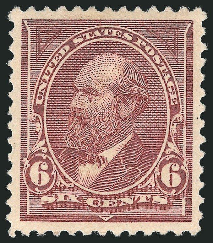 Values of US Stamps Scott Catalog #256 - 6c 1894 Garfield. Robert Siegel Auction Galleries, Nov 2013, Sale 1061, Lot 3747