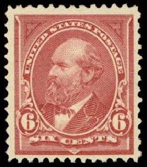Prices of US Stamps Scott Catalog # 256: 1894 6c Garfield. Daniel Kelleher Auctions, Mar 2014, Sale 648, Lot 2108