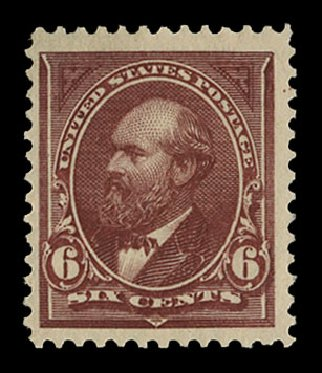 US Stamps Price Scott Catalog #256 - 1894 6c Garfield. Cherrystone Auctions, Nov 2014, Sale 201411, Lot 59