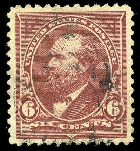 Prices of US Stamps Scott Catalog #256 - 1894 6c Garfield. Matthew Bennett International, May 2014, Sale 350, Lot 381