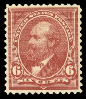 Cost of US Stamps Scott 256 - 6c 1894 Garfield. Daniel Kelleher Auctions, May 2014, Sale 652, Lot 401