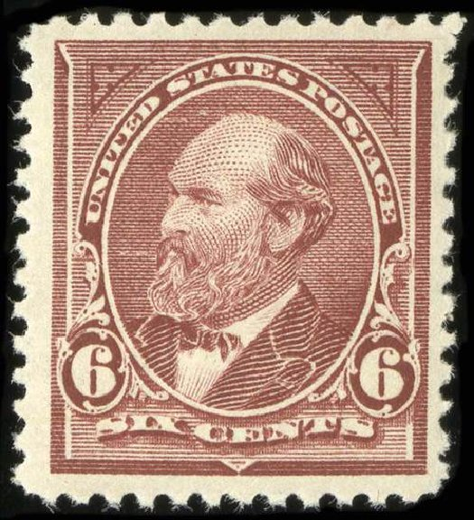 US Stamp Values Scott Catalogue 256 - 1894 6c Garfield. Spink Shreves Galleries, Jul 2015, Sale 151, Lot 204