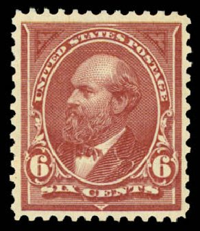 Costs of US Stamp Scott Cat. 256: 1894 6c Garfield. Daniel Kelleher Auctions, May 2015, Sale 669, Lot 2775