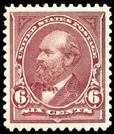 Cost of US Stamps Scott Catalog #256: 1894 6c Garfield. Schuyler J. Rumsey Philatelic Auctions, Apr 2015, Sale 60, Lot 2255