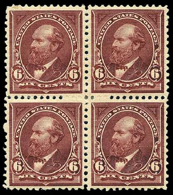 Prices of US Stamp Scott Cat. 256 - 1894 6c Garfield. Harmer-Schau Auction Galleries, Aug 2015, Sale 106, Lot 1672
