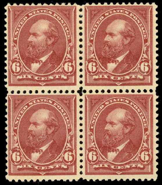 US Stamps Price Scott Catalog #256 - 6c 1894 Garfield. Daniel Kelleher Auctions, Jan 2015, Sale 663, Lot 1516