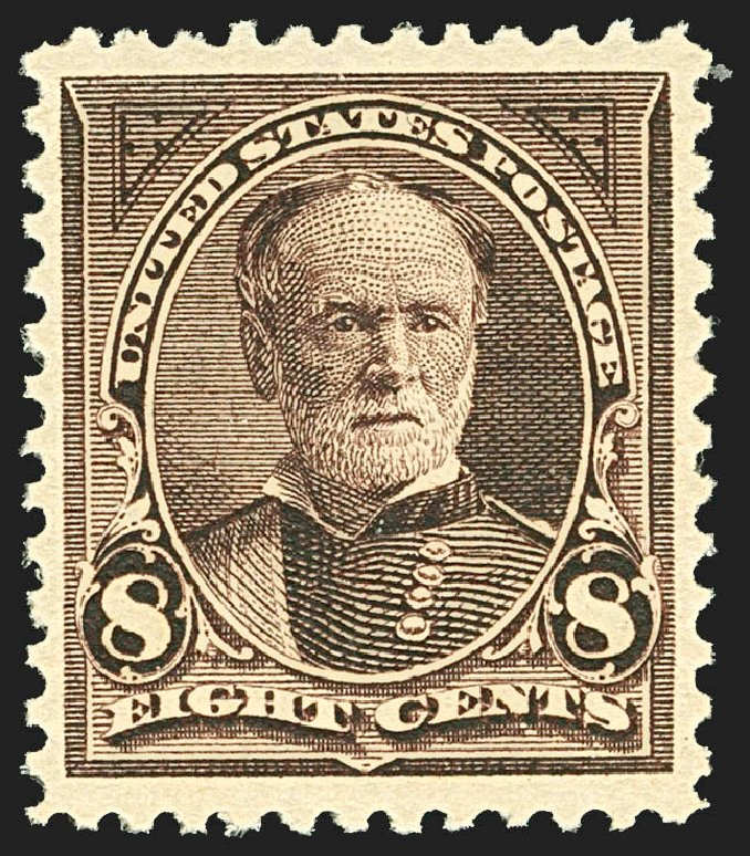 Cost of US Stamps Scott Cat. 257 - 8c 1894 Sherman. Robert Siegel Auction Galleries, Jul 2015, Sale 1107, Lot 348