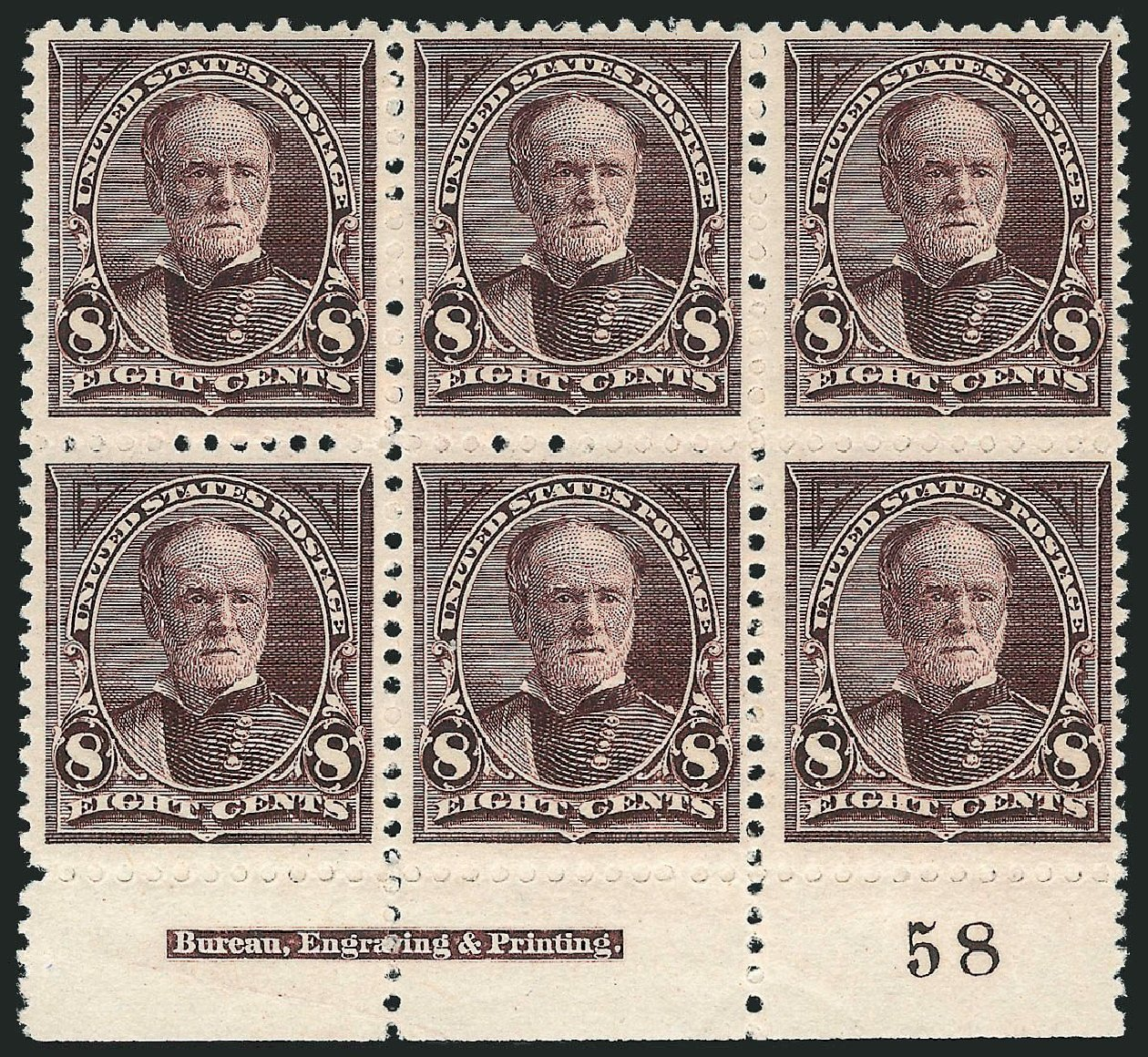 US Stamps Prices Scott Catalogue # 257 - 8c 1894 Sherman. Robert Siegel Auction Galleries, Jul 2014, Sale 1077, Lot 189