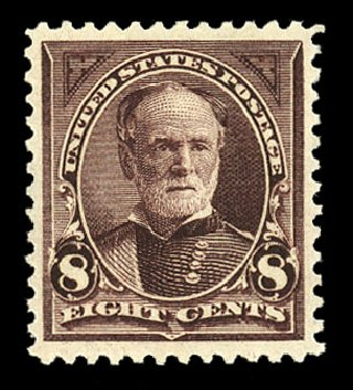Values of US Stamp Scott Catalog 257 - 8c 1894 Sherman. Cherrystone Auctions, Nov 2014, Sale 201411, Lot 60