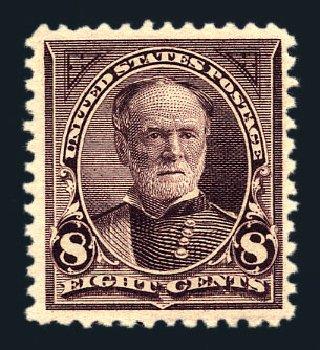 Value of US Stamps Scott Cat. 257 - 1894 8c Sherman. Harmer-Schau Auction Galleries, Aug 2015, Sale 106, Lot 1673