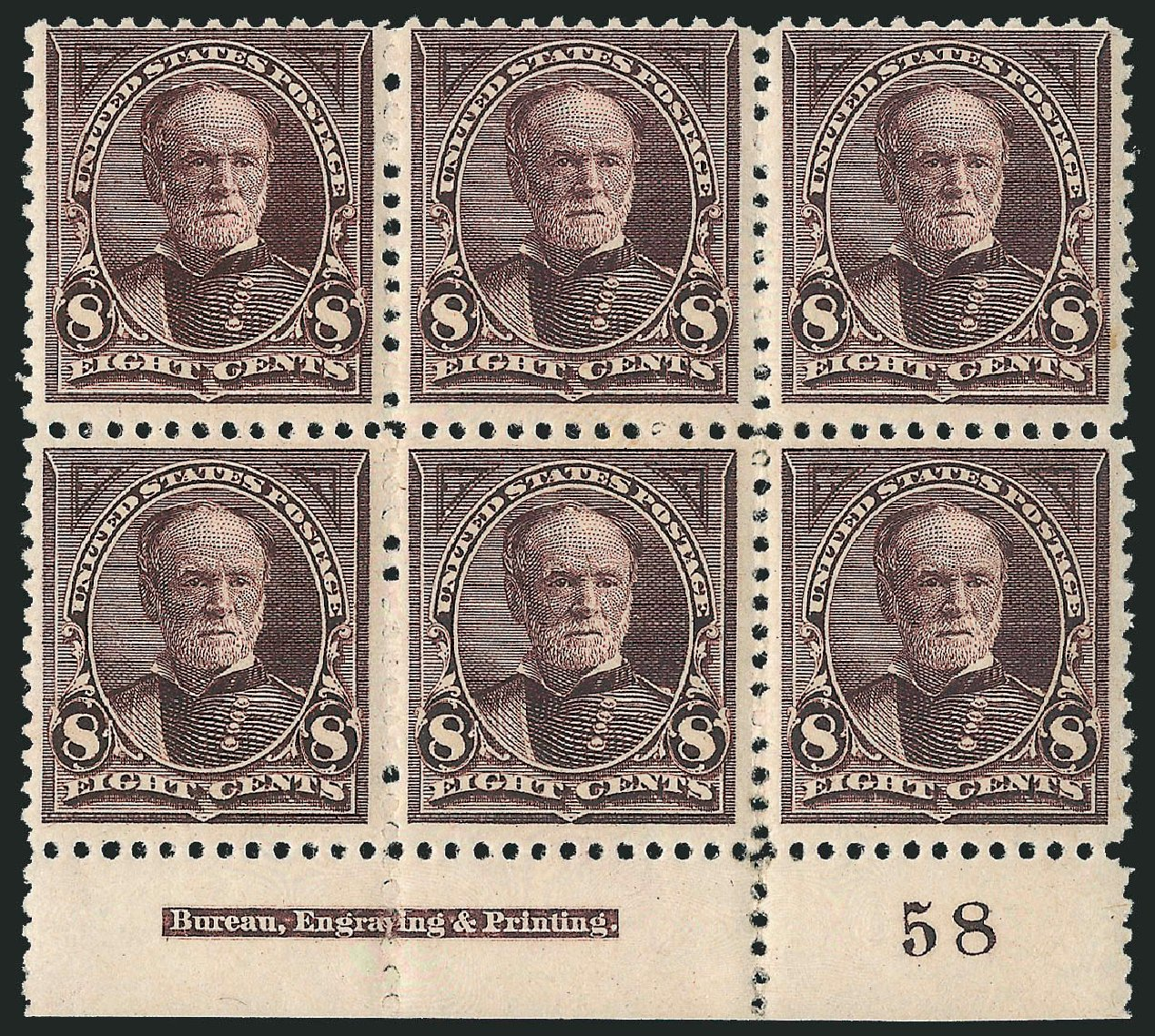 US Stamp Value Scott Catalog # 257 - 8c 1894 Sherman. Robert Siegel Auction Galleries, Apr 2015, Sale 1096, Lot 453