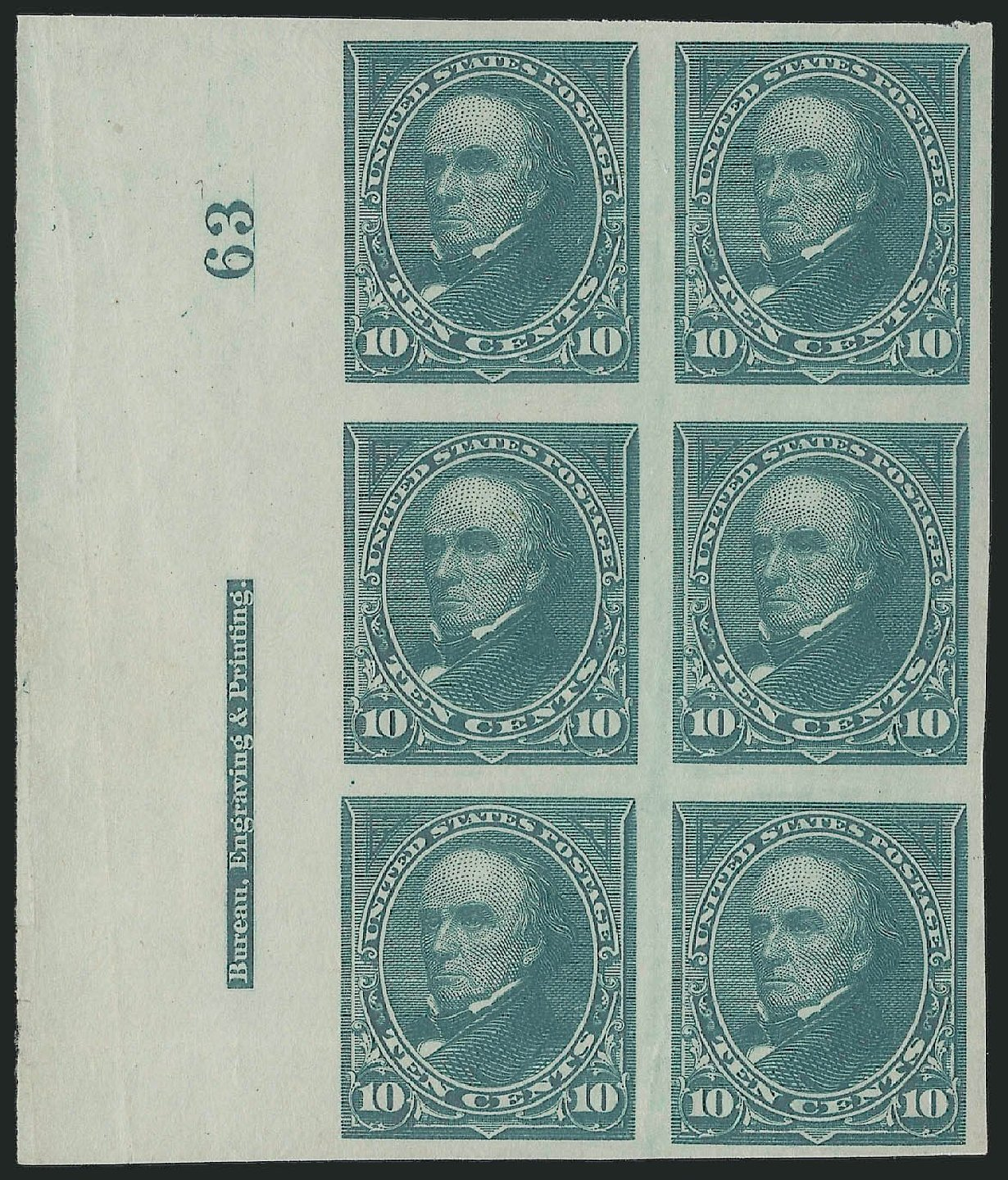 Value of US Stamp Scott Catalogue #258 - 1894 10c Webster. Robert Siegel Auction Galleries, Sep 2014, Sale 1078, Lot 387