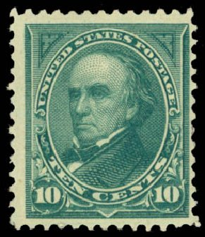 US Stamps Value Scott Catalogue #258: 10c 1894 Webster. Daniel Kelleher Auctions, Jan 2015, Sale 663, Lot 1518