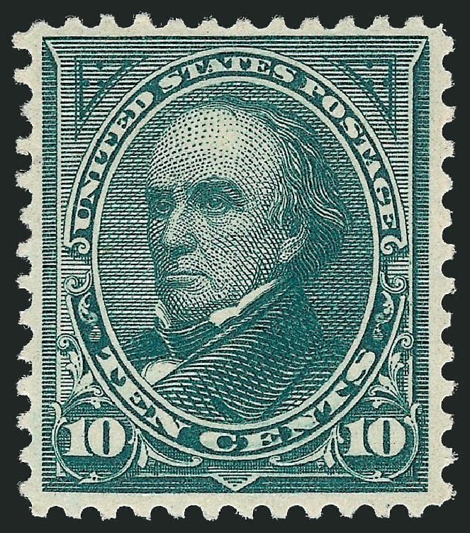 US Stamps Prices Scott Catalog 258: 10c 1894 Webster. Robert Siegel Auction Galleries, Sep 2014, Sale 1078, Lot 388