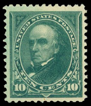 Price of US Stamp Scott Cat. #258 - 1894 10c Webster. Daniel Kelleher Auctions, Jan 2015, Sale 663, Lot 1519
