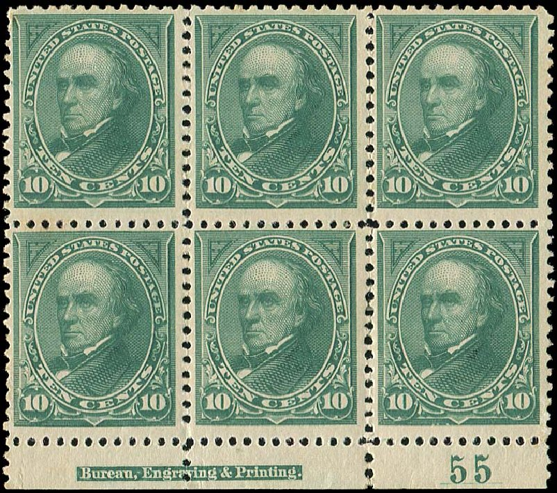 Prices of US Stamp Scott #258 - 10c 1894 Webster. Regency-Superior, Nov 2014, Sale 108, Lot 1270