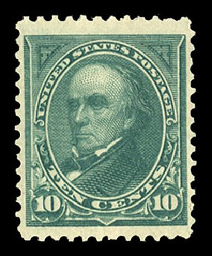Value of US Stamps Scott Cat. #258 - 1894 10c Webster. Cherrystone Auctions, Nov 2014, Sale 201411, Lot 61