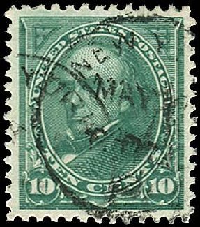 Prices of US Stamps Scott 258 - 1894 10c Webster. Regency-Superior, Nov 2014, Sale 108, Lot 511