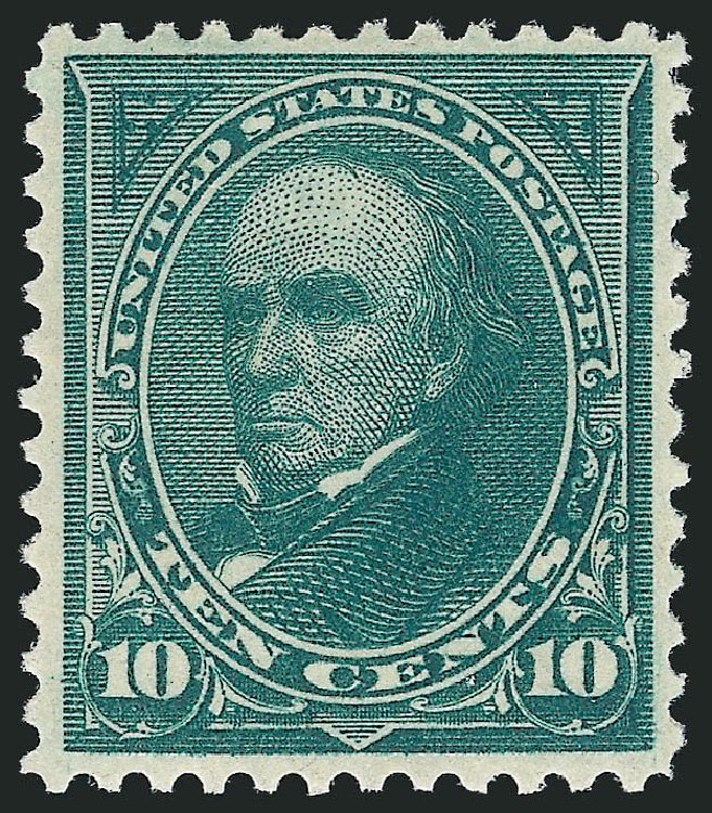 US Stamps Values Scott 258 - 10c 1894 Webster. Robert Siegel Auction Galleries, Apr 2015, Sale 1096, Lot 454
