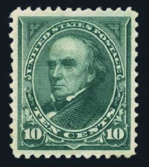 Value of US Stamp Scott Cat. 258: 10c 1894 Webster. Harmer-Schau Auction Galleries, Aug 2014, Sale 102, Lot 1893