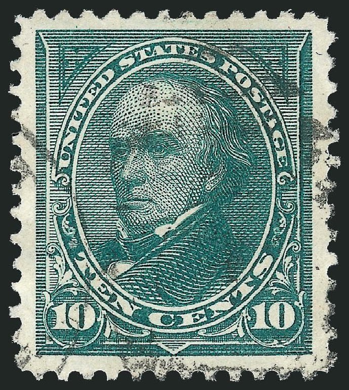 Costs of US Stamp Scott Catalogue # 258 - 1894 10c Webster. Robert Siegel Auction Galleries, Nov 2014, Sale 1084, Lot 3576