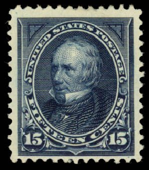 US Stamp Prices Scott 259: 1894 15c Clay. Daniel Kelleher Auctions, Jan 2015, Sale 663, Lot 1520
