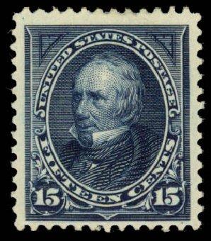 US Stamp Prices Scott 259: 1894 15c Clay. Daniel Kelleher Auctions, Jan 2015, Sale 663, Lot 1520