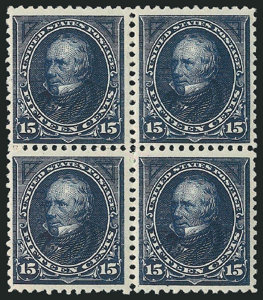 US Stamp Values Scott Cat. # 259 - 1894 15c Clay. Robert Siegel Auction Galleries, Apr 2015, Sale 1096, Lot 455