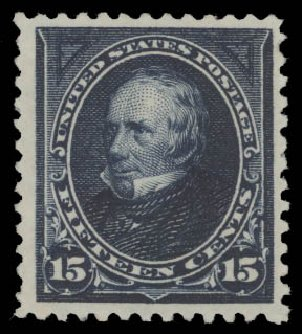 Price of US Stamp Scott Catalogue #259 - 15c 1894 Clay. Daniel Kelleher Auctions, Aug 2015, Sale 672, Lot 2536
