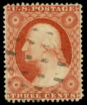 US Stamp Values Scott 26: 1857 3c Washington. Daniel Kelleher Auctions, May 2015, Sale 669, Lot 2447