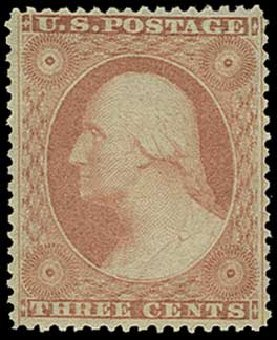 Prices of US Stamp Scott Catalog # 26 - 1857 3c Washington. H.R. Harmer, Jun 2015, Sale 3007, Lot 3118