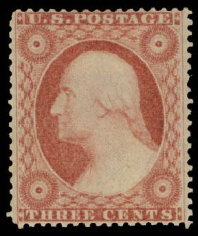Costs of US Stamps Scott Catalog 26: 3c 1857 Washington. Daniel Kelleher Auctions, May 2015, Sale 669, Lot 2444