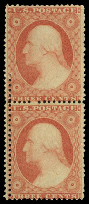 US Stamps Price Scott #26: 3c 1857 Washington. Daniel Kelleher Auctions, May 2015, Sale 669, Lot 2445