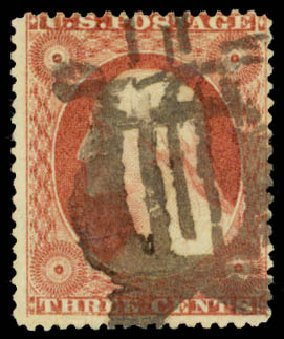 Price of US Stamps Scott Cat. # 26: 1857 3c Washington. Daniel Kelleher Auctions, May 2015, Sale 669, Lot 2446