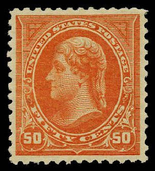 Prices of US Stamps Scott Cat. # 260: 1894 50c Jefferson. Daniel Kelleher Auctions, May 2015, Sale 669, Lot 2777