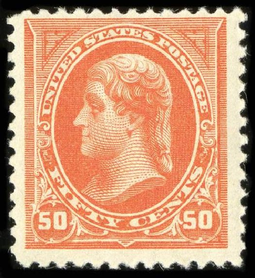 Value of US Stamps Scott Catalogue #260: 1894 50c Jefferson. Spink Shreves Galleries, Jul 2015, Sale 151, Lot 207