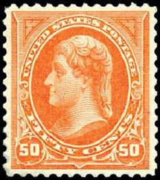 Values of US Stamp Scott 260 - 50c 1894 Jefferson. Schuyler J. Rumsey Philatelic Auctions, Apr 2015, Sale 60, Lot 2258