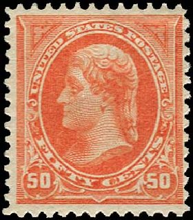 Value of US Stamp Scott Cat. 260: 50c 1894 Jefferson. Regency-Superior, Jan 2015, Sale 109, Lot 969