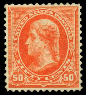 Value of US Stamp Scott Cat. # 260: 50c 1894 Jefferson. Daniel Kelleher Auctions, Jan 2015, Sale 663, Lot 1521