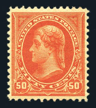 US Stamps Values Scott Catalog 260 - 1894 50c Jefferson. Harmer-Schau Auction Galleries, Aug 2015, Sale 106, Lot 1674