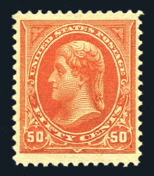 US Stamp Value Scott Catalog 260 - 50c 1894 Jefferson. Harmer-Schau Auction Galleries, Aug 2015, Sale 106, Lot 1675