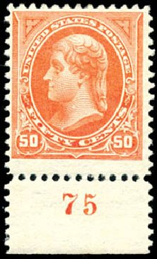US Stamps Values Scott 260: 1894 50c Jefferson. Schuyler J. Rumsey Philatelic Auctions, Apr 2015, Sale 60, Lot 2745